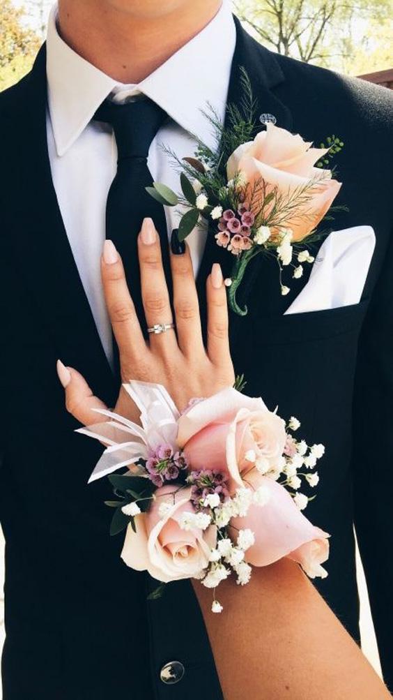 styling ideetjes voor bruid en bruidegom matching 3