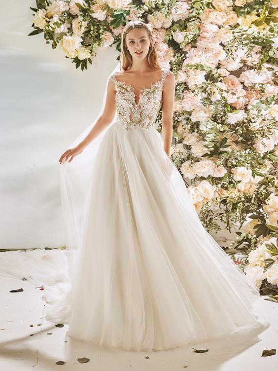 gekleurde trouwjurk La Sposa