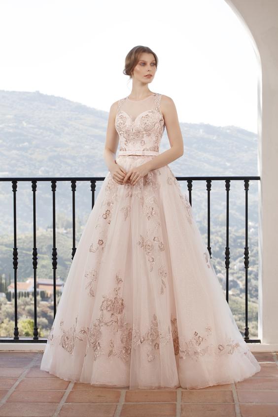 gekleurde trouwjurk Jarice