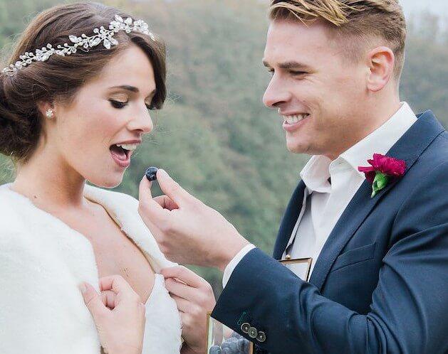 duurzame bruiloft trouwpak