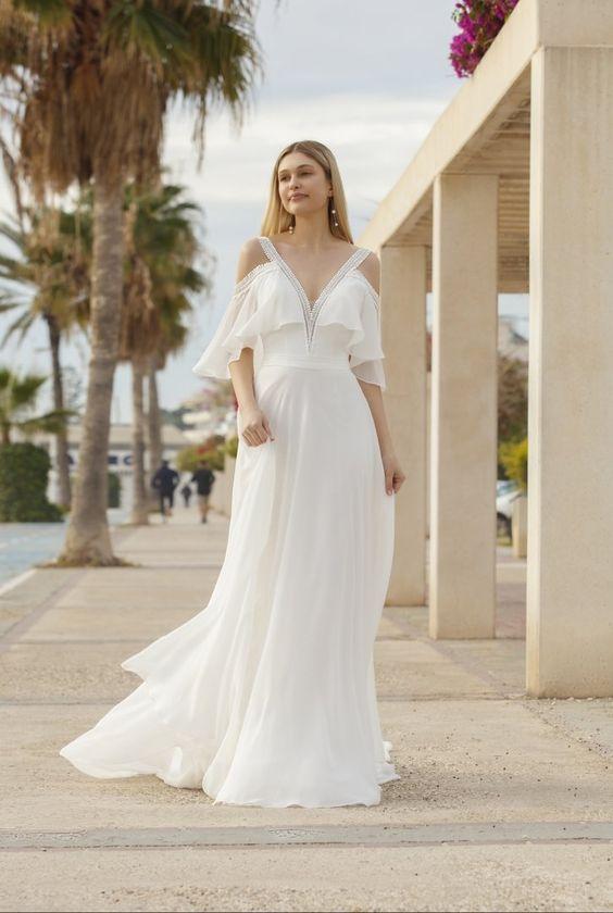 bohemian stijl trouwjurk