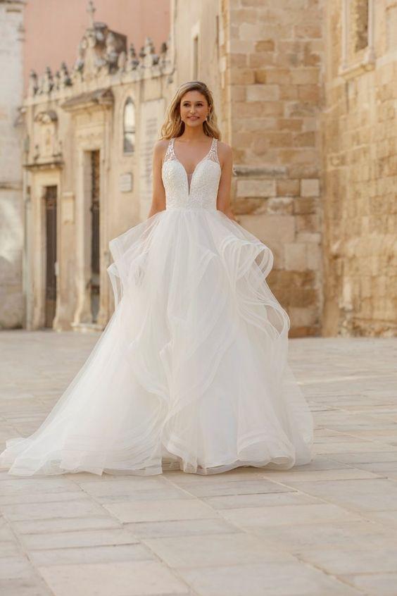 Jarice 2021 collectie roesjes rok trouwjurk